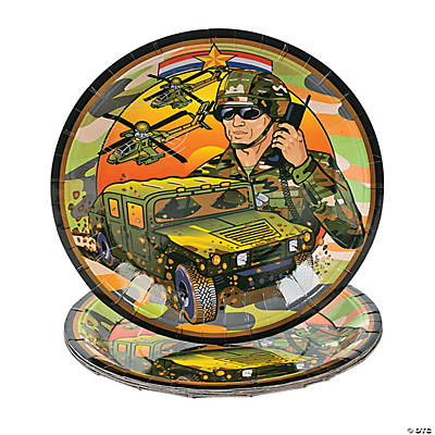 Camouflage/Army Dinner Plates
