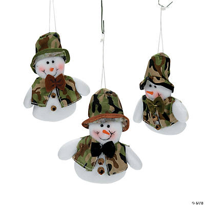 Camouflage Snowman Ornaments