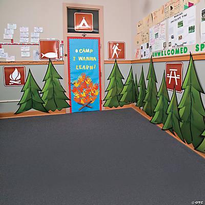Camp door décor idea
