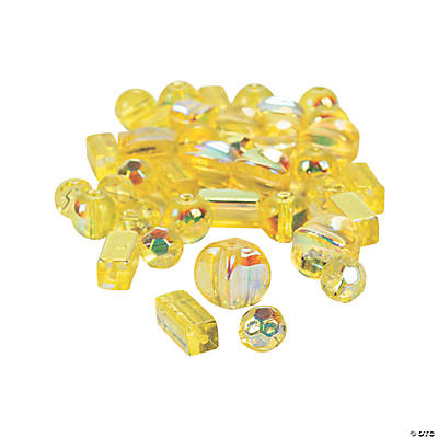 Canary Yellow AB Finish Bead Assortment - 8mm-12mm