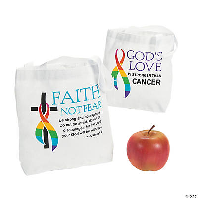 Cancer Awareness Faith Tote Bags