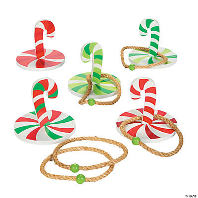 Candy Cane Ring Toss Game