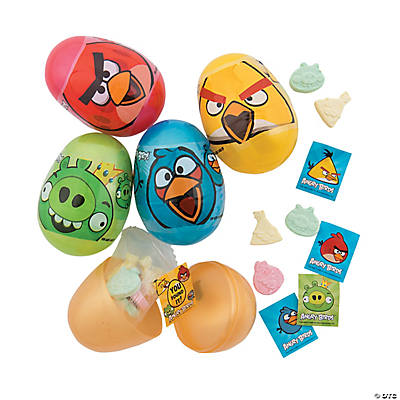 Candy Filled Angry Birds8482 Plastic Easter Eggs