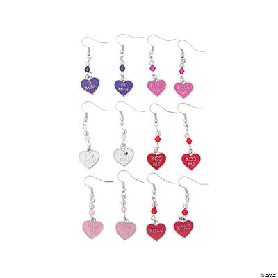Candy Heart Charm Earring Craft Kit
