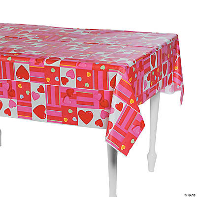 Candy Hearts Tablecloth