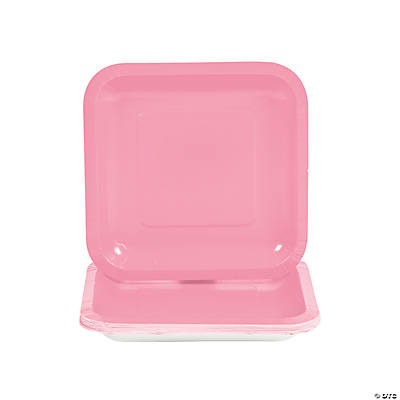 Candy Pink Square Dessert Plates