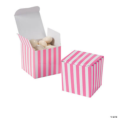 Candy Pink Striped Gift Boxes