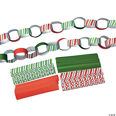 Candy-Striped Paper Chains
