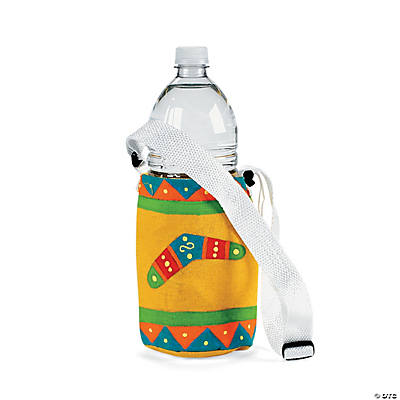 Canvas Rainbow-Colored Water Bottle Holders
