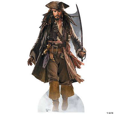 captain jack sparrow pirates of the caribbean cardboard stand up - Jack Sparrow Halloween Costumes