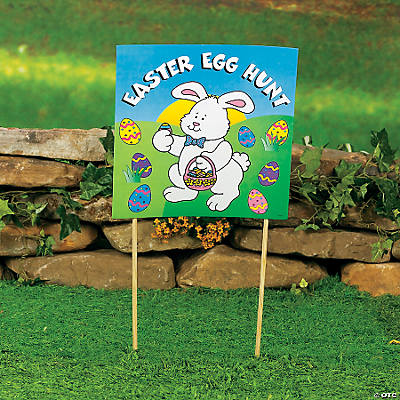 "Cardboard ""Easter Egg Hunt"" Yard Sign"