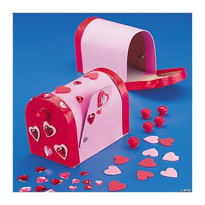 cardboard valentine mailbox craft kit - Valentine Mailboxes