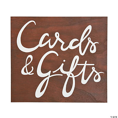 Cards & Gifts Script Sign