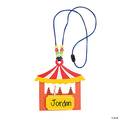 "Carnival Booth ""Over the Top"" Name Tag Holder Craft Kit"