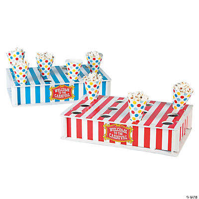 Carnival treat stand with cones - Carnival theme party supplies ...