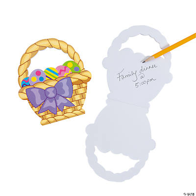 Carry Around Easter Basket Notepads