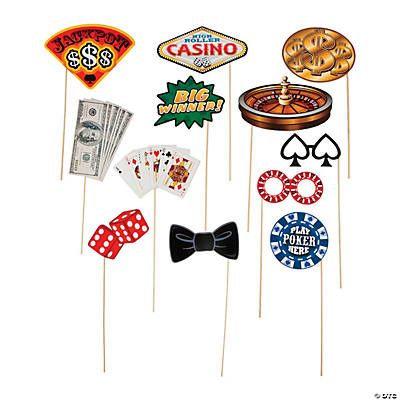 Casino Photo Stick Props
