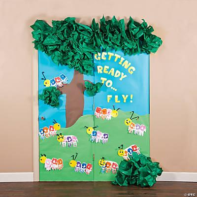 Caterpillar door décor idea