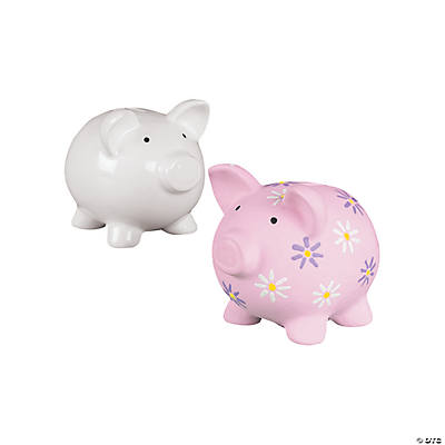 Ceramic Paint Your Own Piggy Banks