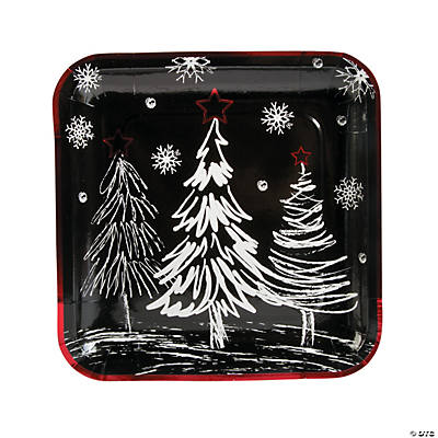 Chalkboard Christmas Paper Dinner Plates  sc 1 st  Oriental Trading & Christmas Party Plates   OrientalTrading.com