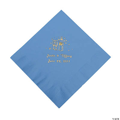 Champagne Luncheon Napkins - Periwinkle