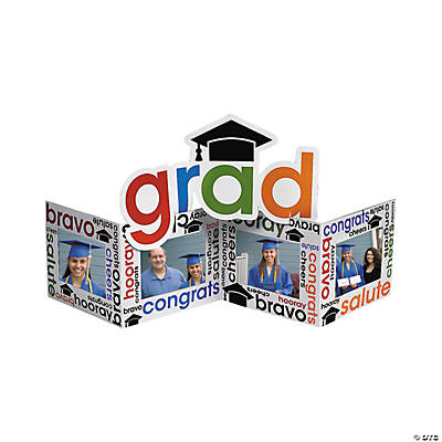 """Cheers To the Grad"" Picture Frame Centerpiece"