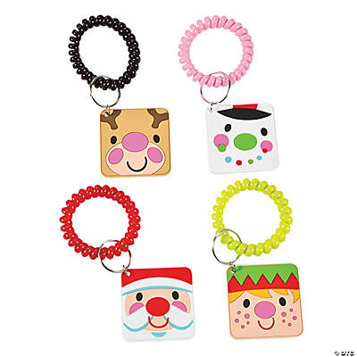 Cheery Christmas Coil Key Chains