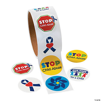 Child Abuse Awareness Sticker Rollss