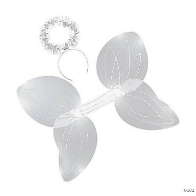 Child's White Angel Wings & Halo Headband