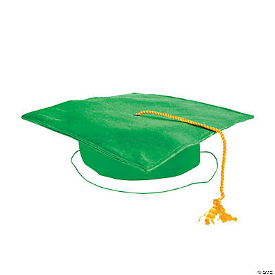 Child's Green Graduation Cap