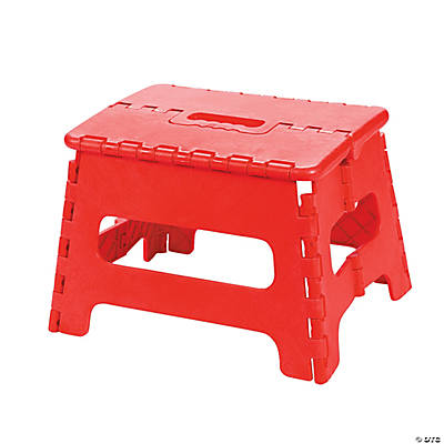 Child's Red Folding Stool