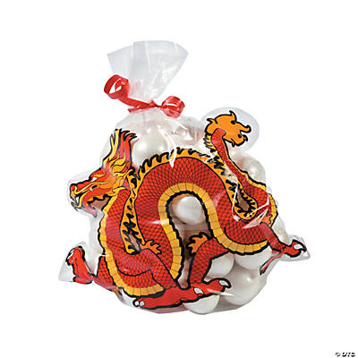 Chinese New Year Dragon-Shaped Cellophane Bags