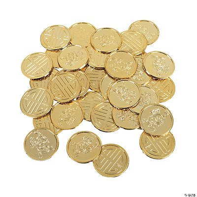 chinese new year goldtone coins - Chinese New Year 1969