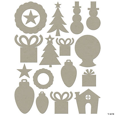 Chip Art Christmas Die Cut Assortment