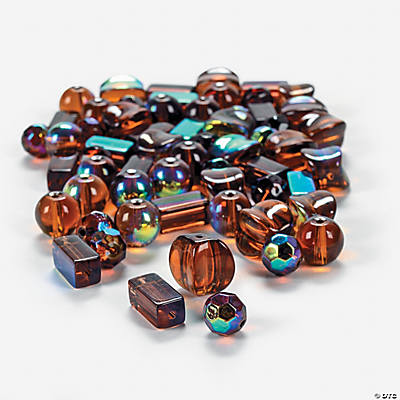 Chocolate Brown AB Finish Bead Assortment - 8mm-12mm