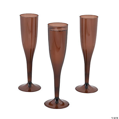 Chocolate Brown Champagne Flutes