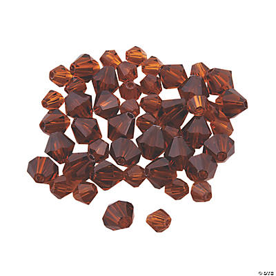 Chocolate Brown Crystal Bicone Beads - 4mm-6mm