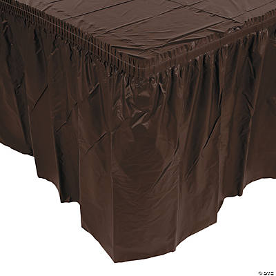 Chocolate Brown Pleated Table Skirts