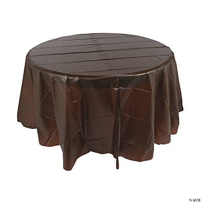 Chocolate Brown Round Tablecloth