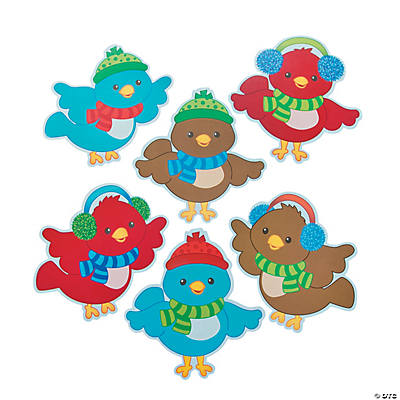 Christmas Bird Bulletin Board Cutouts