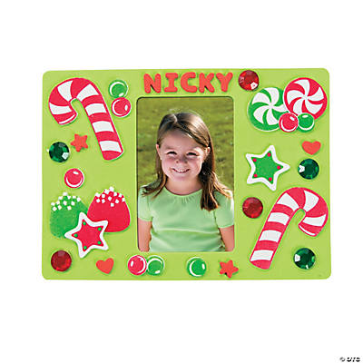 Christmas Candy Picture Frame Magnet Craft Kit