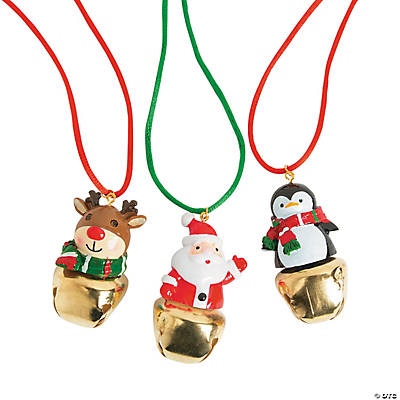 Christmas Characters Jingle Bell Necklaces