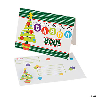 """Christmas Children's """"Thank You"""" Notes - Oriental Trading ..."""