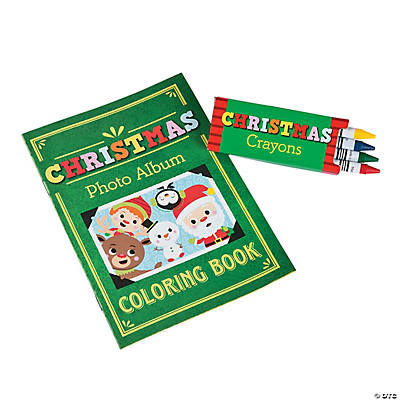 Christmas Coloring Books with Crayons - Oriental Trading