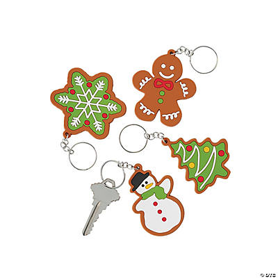 Christmas Cookie Cutout Keychains