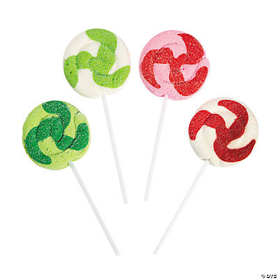 Christmas Marshmallow Swirl Pops