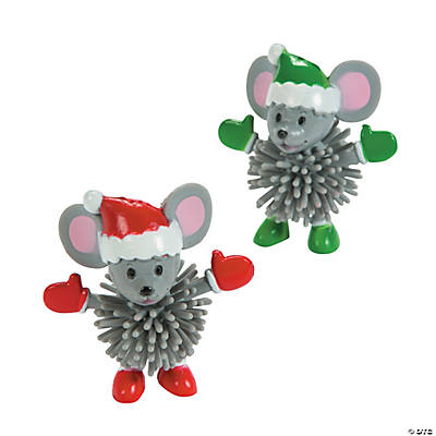 Christmas Mouse Porcupine Characters