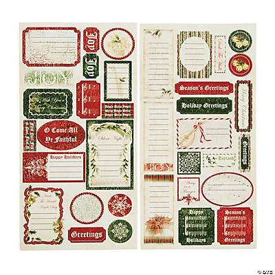Christmas Music Sticker Sheets