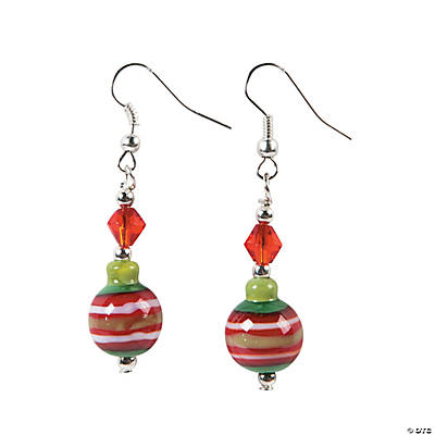 Christmas Ornament Lampwork Earring Craft Kit