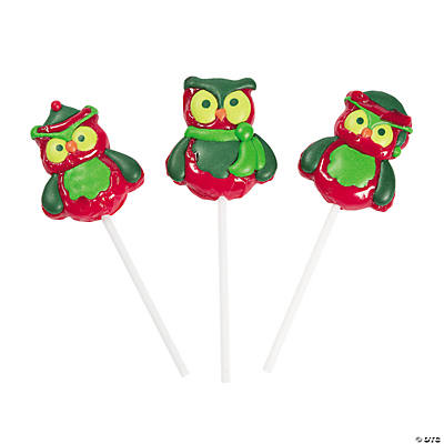Christmas Owls Character Suckers